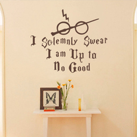 Harry Potter Vinyl Wall Decal I Solemnly Swear I Am Up To No Good Wall Sticker