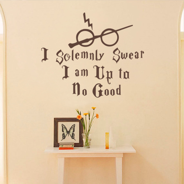 8f88513d8563 Harry Potter Vinyl Wall Decal I Solemnly Swear I am up to no Good Wall  Sticker Art Quote Lettering 17