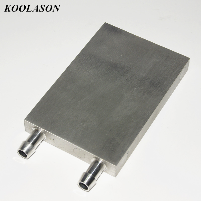 120*80*15mm Semiconductor refrigeration film water cooling cooler cold aluminium board block conditioning radiator Heat sink tec1 12708 65w semiconductor refrigeration part