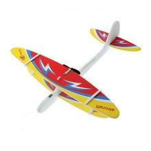 DIY Biplane планер пена питание самолет полета перезаряжаемые электрическая модель игрушка летающий самолет случайный цвет