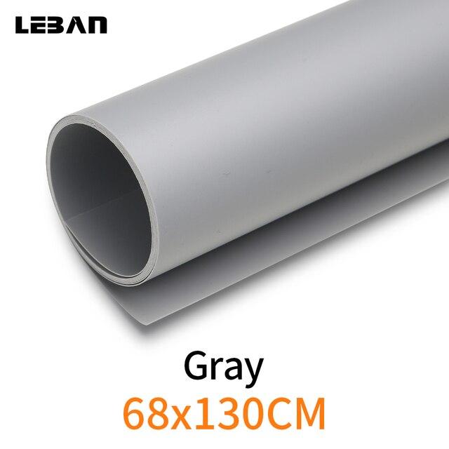 """אפור 68X130 ס""""מ 27*51 inch רקע צילום מט נייר PVC ויניל רקע חלק חלקה מים הוכחת"""