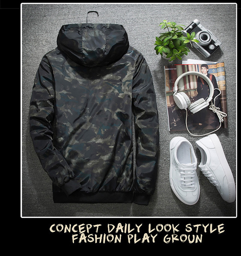 HTB1b4EkeFkoBKNjSZFEq6zrEVXa3 2018 Spring Autumn Mens Casual Camouflage Hoodie Jacket Men Plus Size 4XL Waterproof Windbreaker Coat Male jaqueta masculina