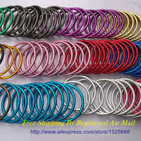 "Free Shipping 10pcs/5pairs 3"" Large Size Safety Aluminium Ring Baby Sling Made of Strong Aluminium Variety of Colours"