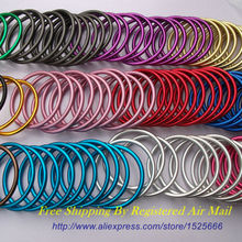 Free Shipping 10pcs/5pairs 3″ Large Size Safety Aluminium Ring Baby Sling Made of Strong Aluminium Variety of Colours