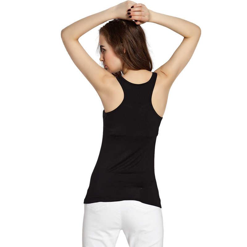 Camiseta sin mangas de verano para mujer Modal de corte bajo de lencería Top camisetas ropa interior camisolas para mujeres íntimas delgadas señoras delgadas