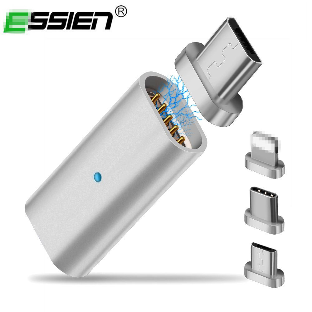 Essien Micro USB Converter Magnetic Adapter Type-C USB To Type-C / For IPhone Apple / Micro USB Charger Cable Magnetic Connector