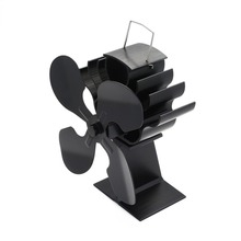 Stove-Fan Heater-Tool Log-Burner/fireplace-Quiet Efficient for Environmental 4-Blade