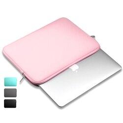Zíper portátil forro macio luva saco do portátil portátil computador portátil caso saco de computador capa inteligente para 11 13 14 15 macbook ar pro retina