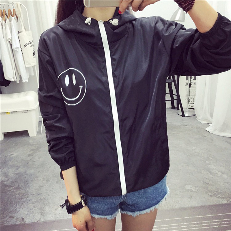 Jackets   Women 2018 New Summer Bomber   Jacket   Women's Hooded   Basic     Jacket   Casual Thin Windbreaker Outwear Fashion Women Coat