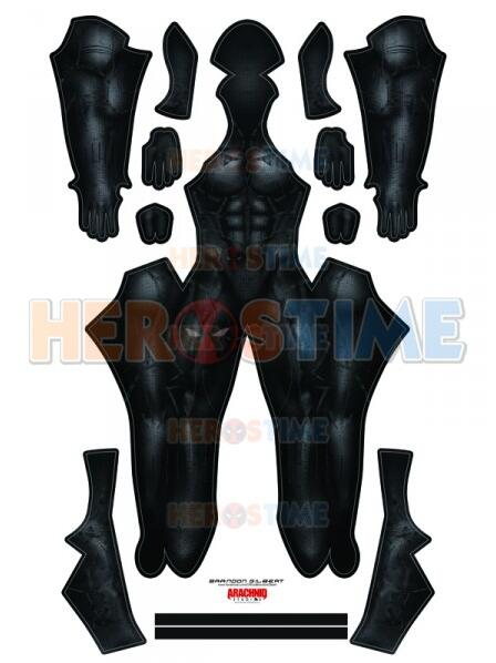 2018 Version Black Panther Cosplay Costume No Mask No Accessories Superhero Black Panther Bodysuit Halloween Costume