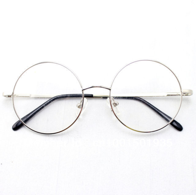 b6325fbacf 46mm Size Oversized Retro Vintage Harry Potter Style Round Eyeglass Frames  Black Gold Silver Gun Grey Optical RX-in Eyewear Frames from Apparel  Accessories ...