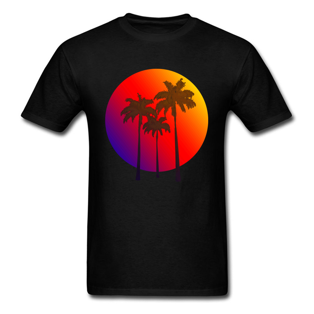 Tropical Island Birthday Tops & Tees Short Sleeve For Men Pure Cotton Father Day Crew Neck T-Shirt Geek Clothing Shirt Hot Sale