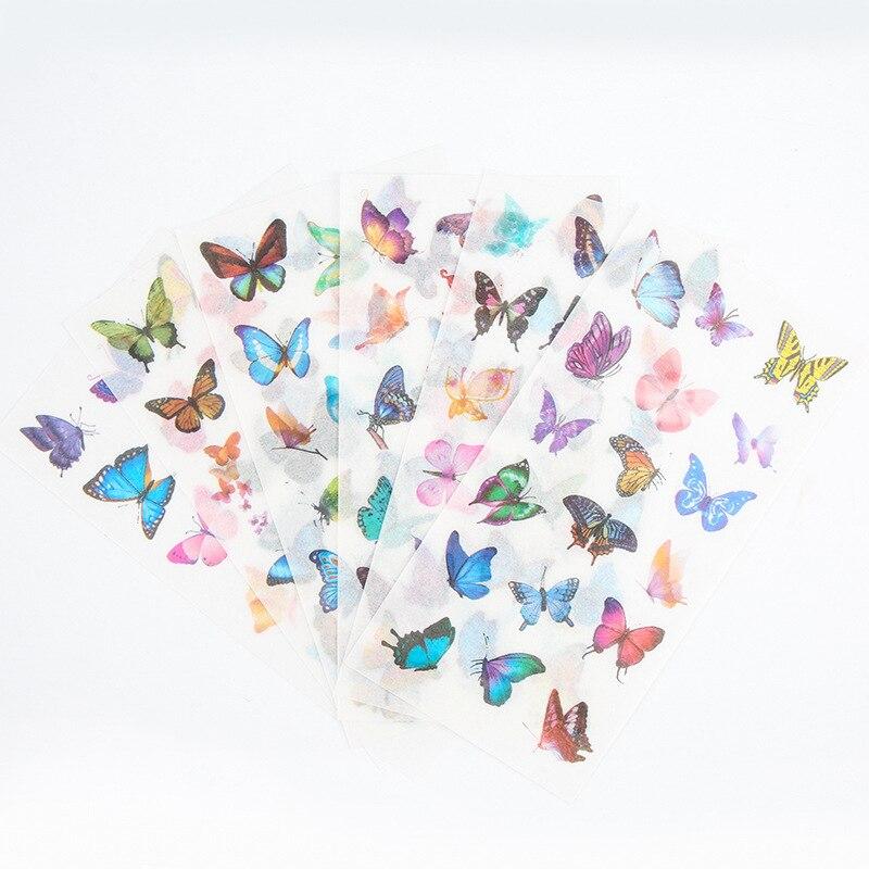 6 листов, декоративная фотография в виде милой бабочки
