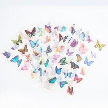 6 folhas linda borboleta adesivo decorativo diy scrapbooking rótulo diário álbum adesivo escolar