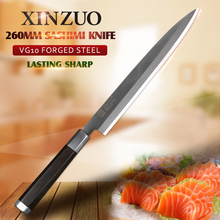 XINZUO Filleting Knife 9.5/10/12 inch 2 Layer VG10 Steel Sashimi Knife Stainless Steel Cleaver Knives Ebony Wood Handle kitchen