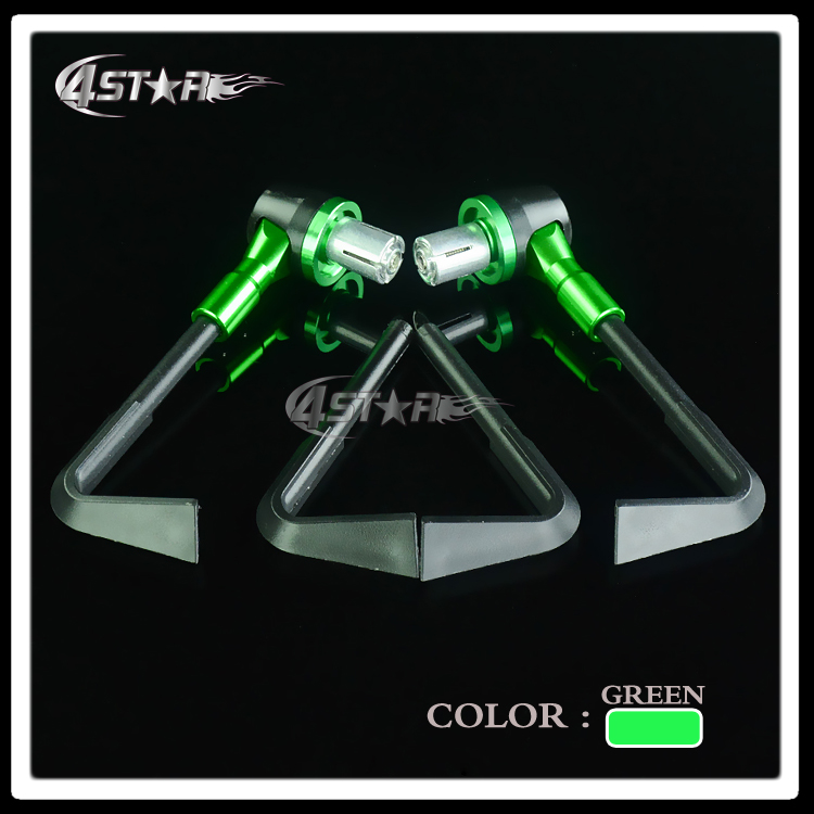 Vert Universel 7/8 22mm De Frein D'embrayage Leviers Guidon Garde Handguard Pour Z250 Z750 Z800 Z1000 Ninja250 ZX6R ZX10R ZX9R