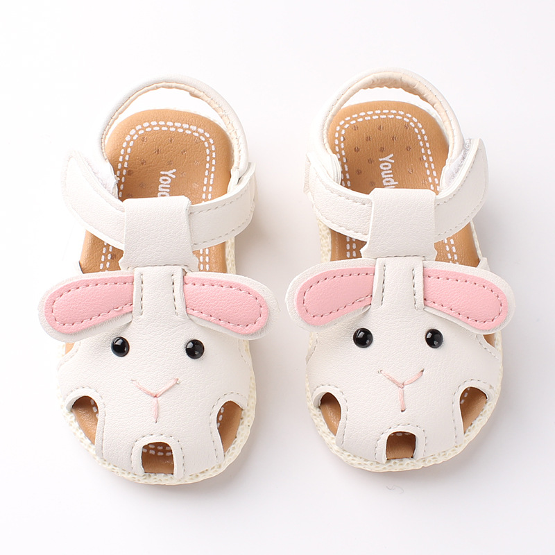 Summer Baby Girls Sandals Cute Anmial Cartoon Style Children Baby Shoes Child Sandalia Breathable 1-4 Years Size 15-19