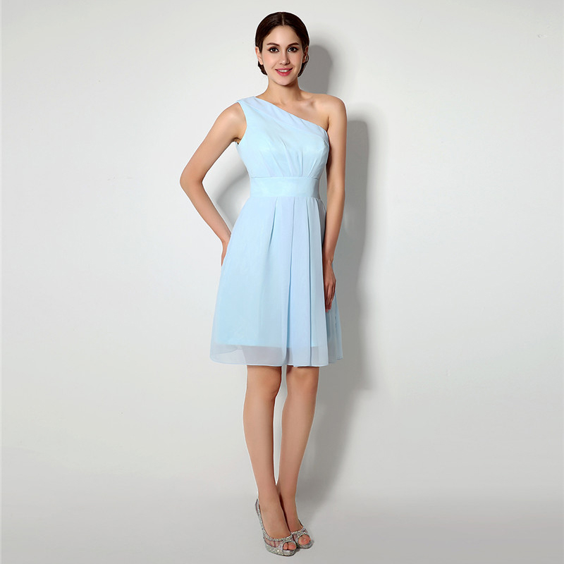 Aliexpress.com : Buy Turquoise 2018 Cheap Bridesmaid Dresses Under 50 A  Line One Shoulder Knee Length Chiffon Short Wedding Party Dresses From  Reliable ...