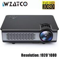 WZATCO CT580 реального проектор Full HD 1080 P 1920*1080 3800 люмен HDMI домашнего кинотеатра Android 7,1 проекторы проектор Wi Fi ЖК дисплей Proyector