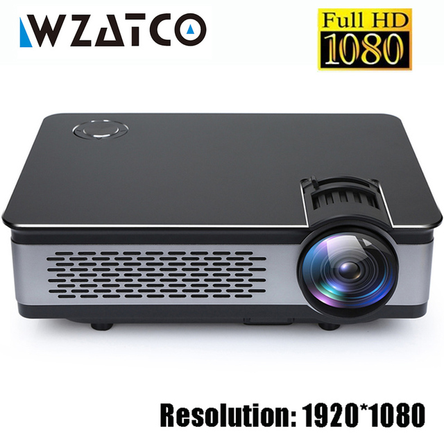 WZATCO CT580 Real Full HD Projector 1080P 1920*1080 3800Lumen HDMI Home Theatre Android 7.1 Projectors WIFI Beamer LCD Proyector