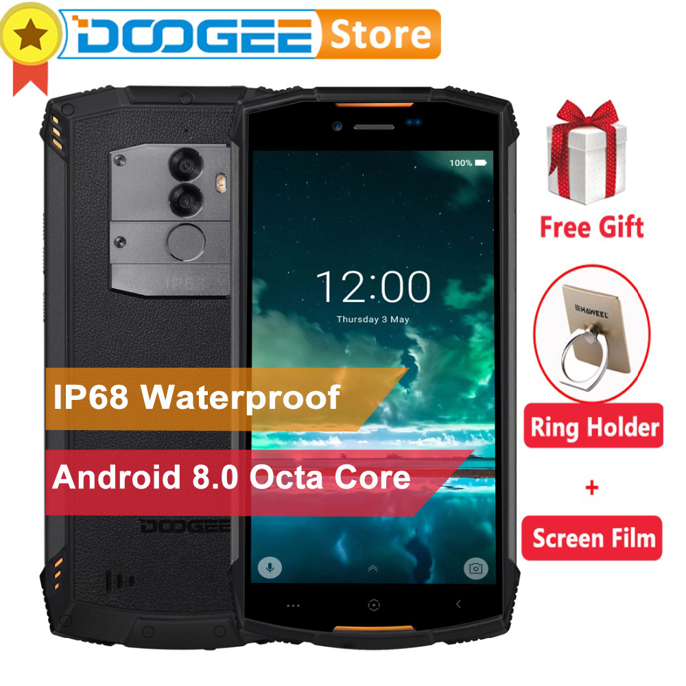 DOOGEE S55 4GB 64GB IP68 Waterproof Mobile Phone 5.5″HD+ Android 8.0 Octa Core 13MP Camera 5500mAh 5V2A Quick Charger Smartphone