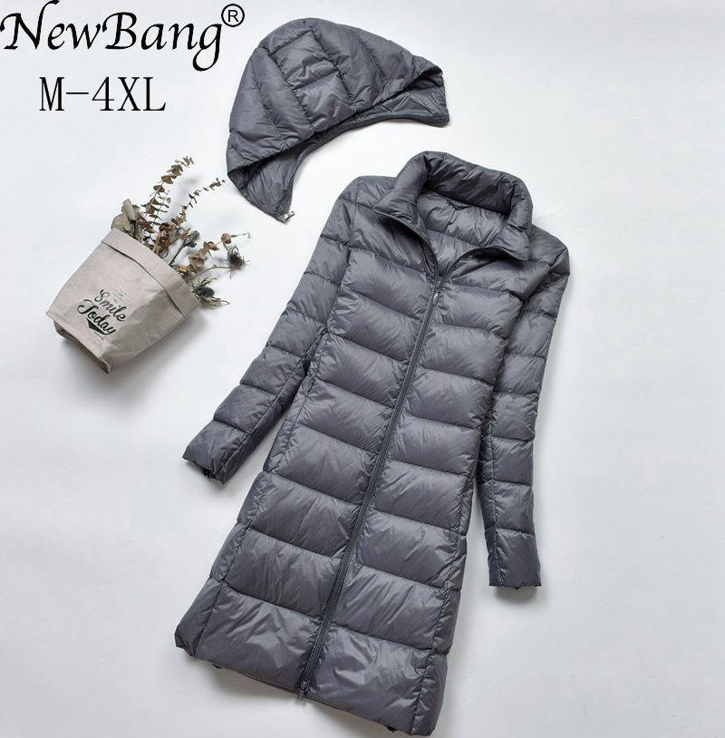 NewBang Brand Long   Down   Jackets Women Winter   Down   Jacket Female Long Windproof Warm   Coat   Winter Hooded Detachable Outwear