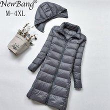 NewBang Brand Long Down Jackets Women Winter Down