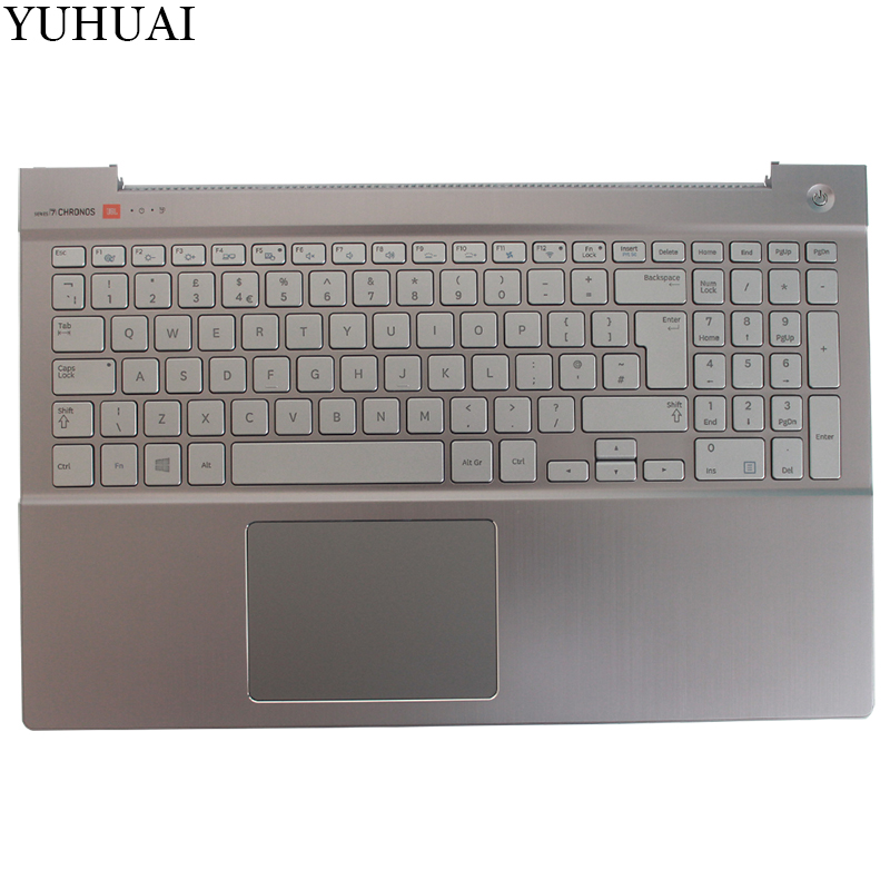 NEW UK keyboard for samsung NP770Z5E 780Z5E NP780Z5E NP880Z5E 670Z5E UK keyboard Silver with Palmrest Cover BA75-04327E new original laptop back cover for samsung np880z5e 870z5e 770z5e 780z5e 670z5e rear lid top case with wo hinges ba75 04417a