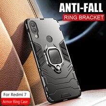 Armor Ring Case Voor xiaomi redmi 8 case Magnetische Auto Hold Shockproof Beschermende Zachte Bumper Telefoon Cover Voor xiaomi redmi 7 Case