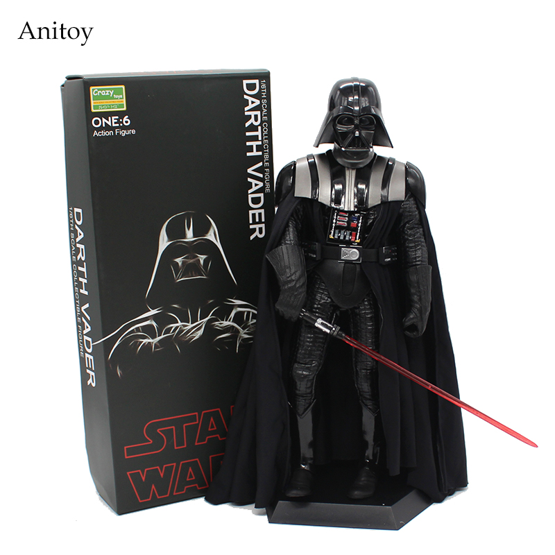 Crazy Toys Star Wars Darth Vader 1/6 th Scale PVC Figure Collectible Model Toy 30cm KT4004 crazy toys 12 deadpool star wars knights of ren darth vader punisher dc marvel superhero pvc action figure collectible model