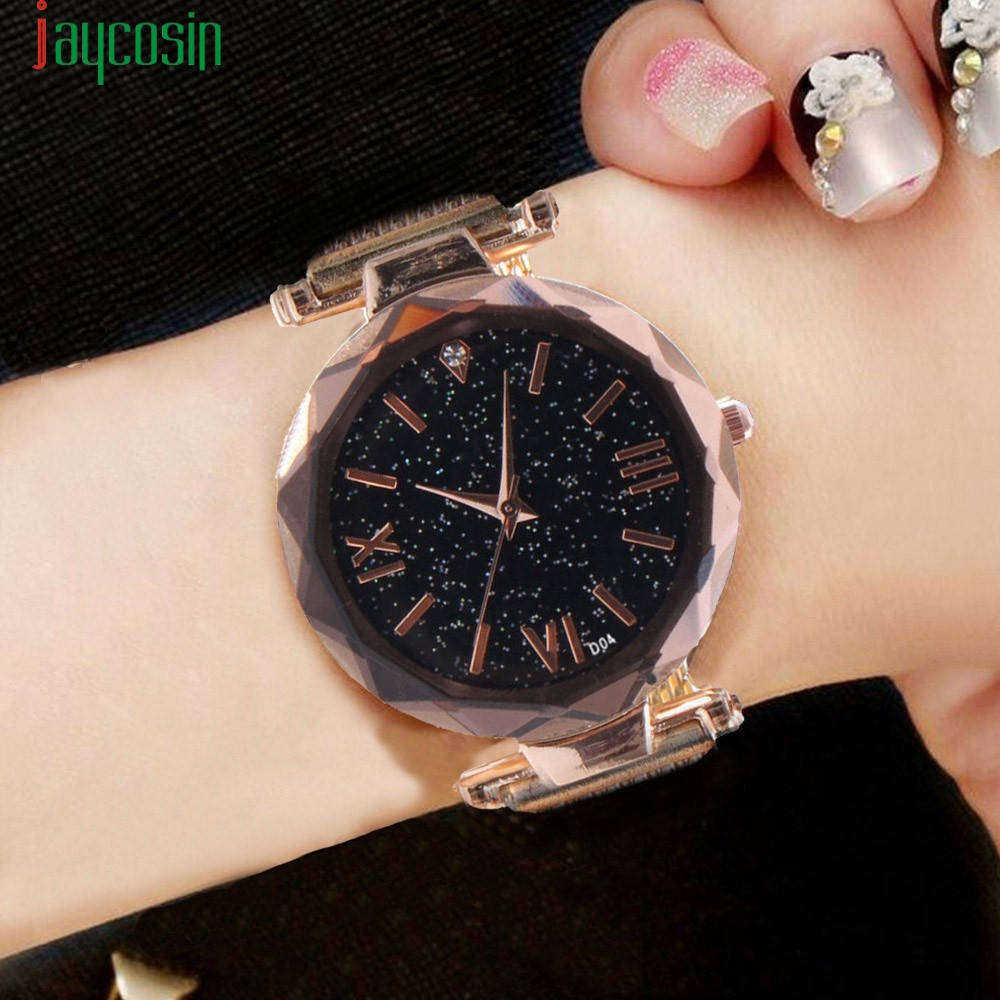 Jaycosin Rose Gold Wristwatch Diamond Case Watches Fashion & Casual Watch Feminino Lover's Gifts Bracelet Drop Shipping Se0805