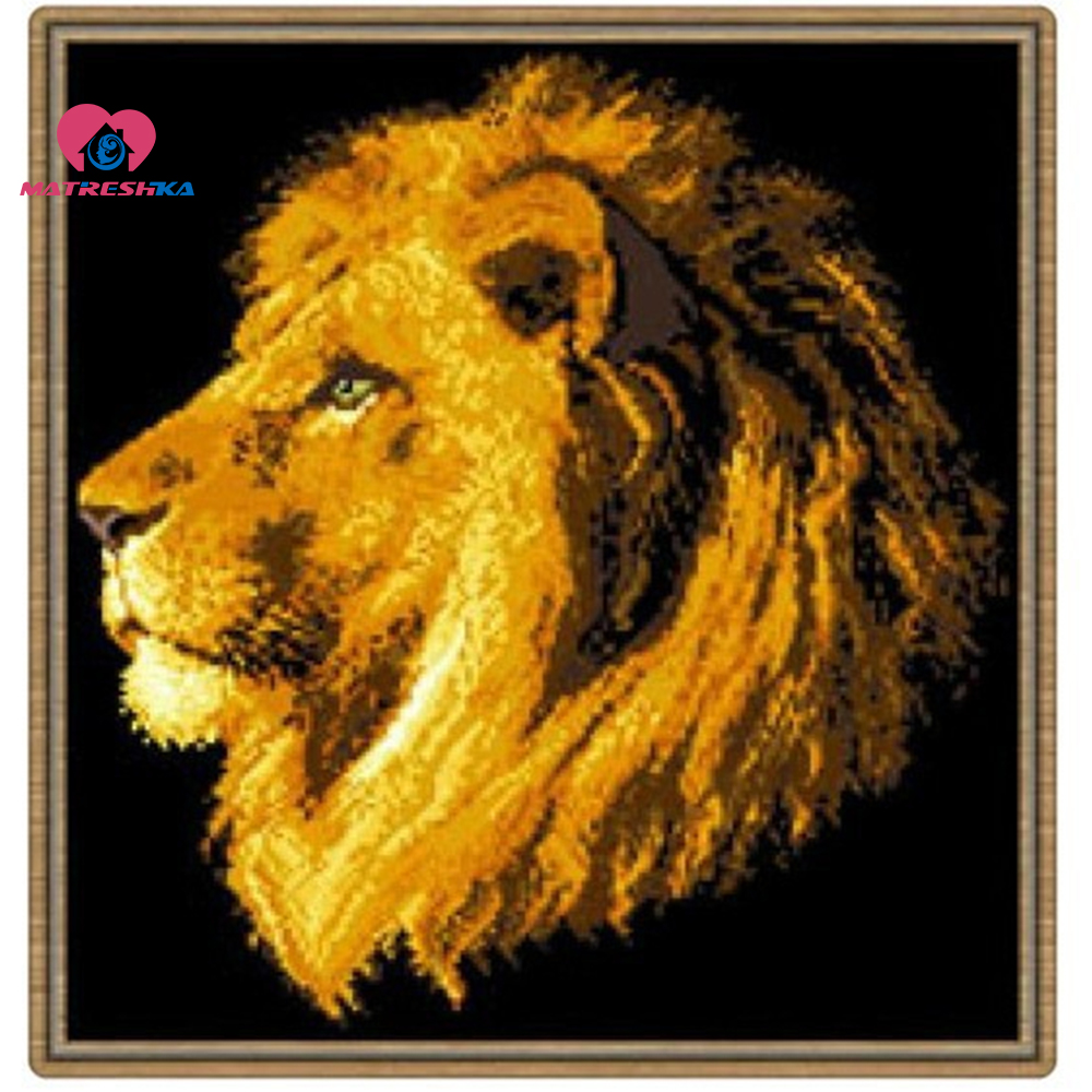 37cm x 40cm Beads embroidery accurately printed Lion full beadwork embroidery beads manualidades acessorios de costura37cm x 40cm Beads embroidery accurately printed Lion full beadwork embroidery beads manualidades acessorios de costura