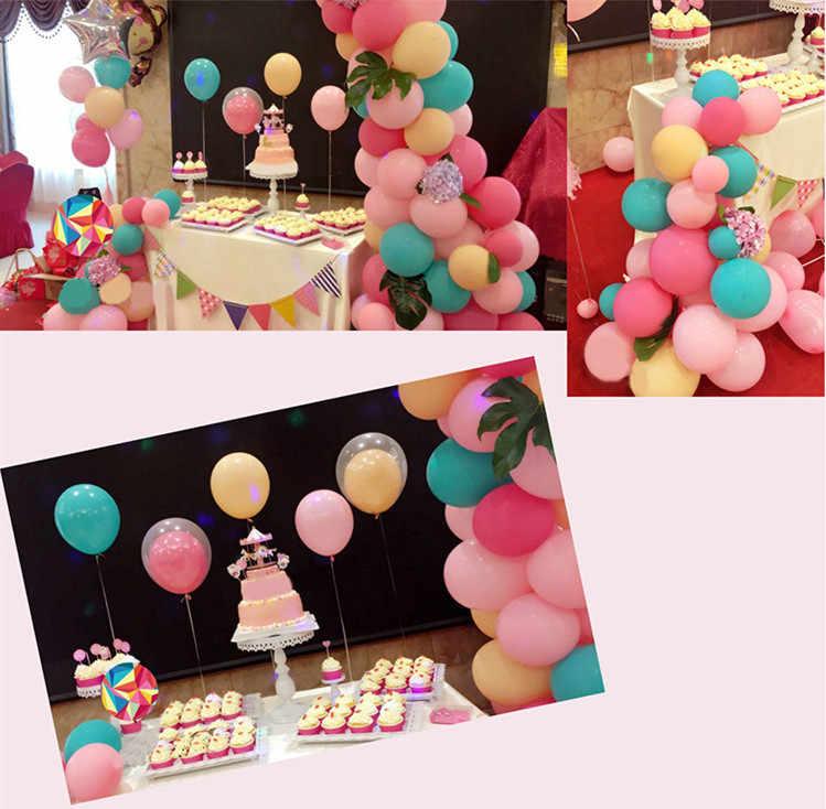 10 pcs 10 นิ้ว Rose Gold Confetti บอลลูน Latex บอลลูน Happy Birthday บอลลูนงานแต่งงานตกแต่งบอลลูนงานปาร์ตี้ซัพพลาย