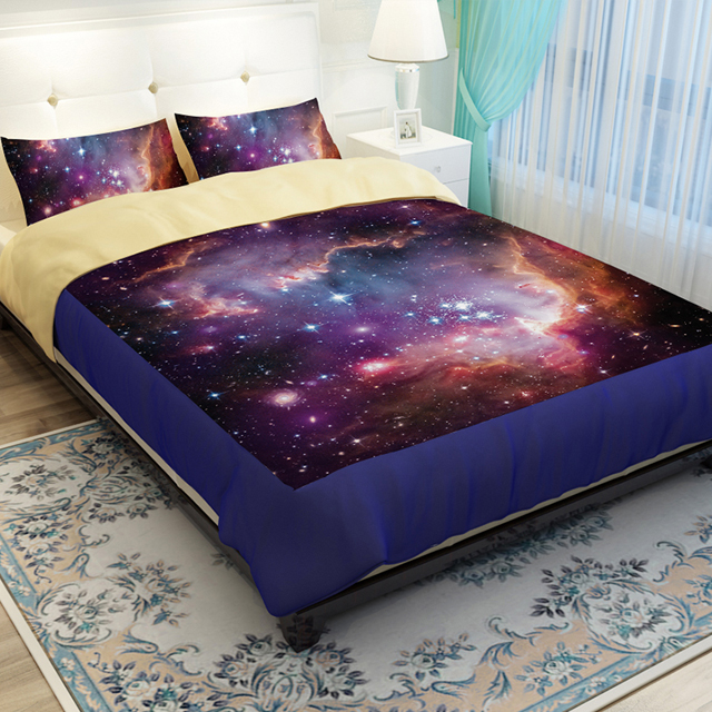 Hipster Galaxy Bedding Set Universe Outer Space Themed Galaxy Print  Bedlinen Sheets,Twin,Queen King Universe Outer Space Themed In Bedding Sets  From Home ...
