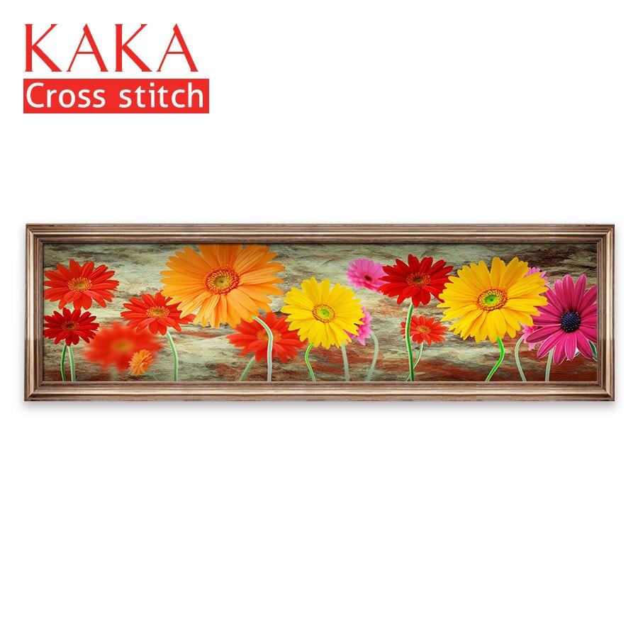 Ev ve Bahçe'ten Paket'de Çapraz dikiş kitleri, Nakış İğne setleri baskılı desen, 11CT canvas için Ev Dekor Boyama, Çiçekler Tam NCKF129'da  Grup 1