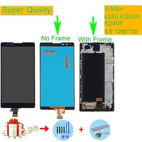 Original For Lg X Max k240 K240H K240F LCD Display with Touch Screen Digitizer Assembly Complete With frame Free shipping Black