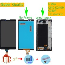 Original For Lg X Max k240 K240H K240F LCD Display with Touch Screen Digitizer Assembly Complete With frame Free shipping Black for lenovo a536 lcd display with touch screen digitizer frame assembly black by free shipping 100