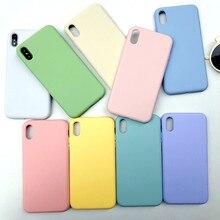 Snoep Kleuren Plain Vloeibare Siliconen Ingericht Case voor iPhone XR Xs Max X R 10 Gel Rubber Telefoon Cover Beschermende gevallen Shell Coque