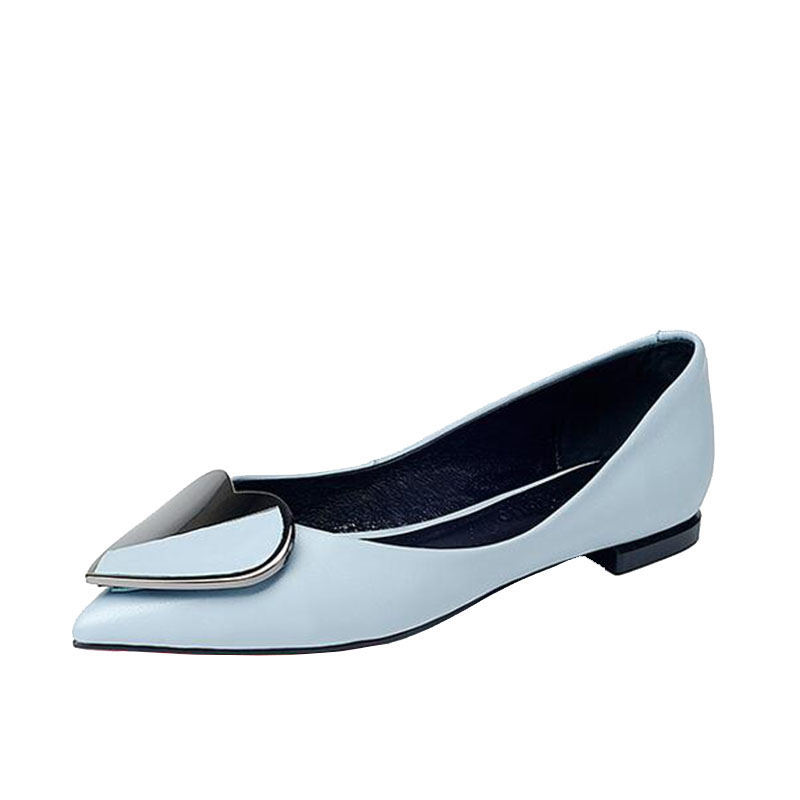 flat shoe lady Europe stands for the spring/summer 2017 new women's shoes with a comfortable pointed leather and black shoes the new spring and summer ms south korea ensure their boots comfortable show female water thin antiskid tall canister shoe