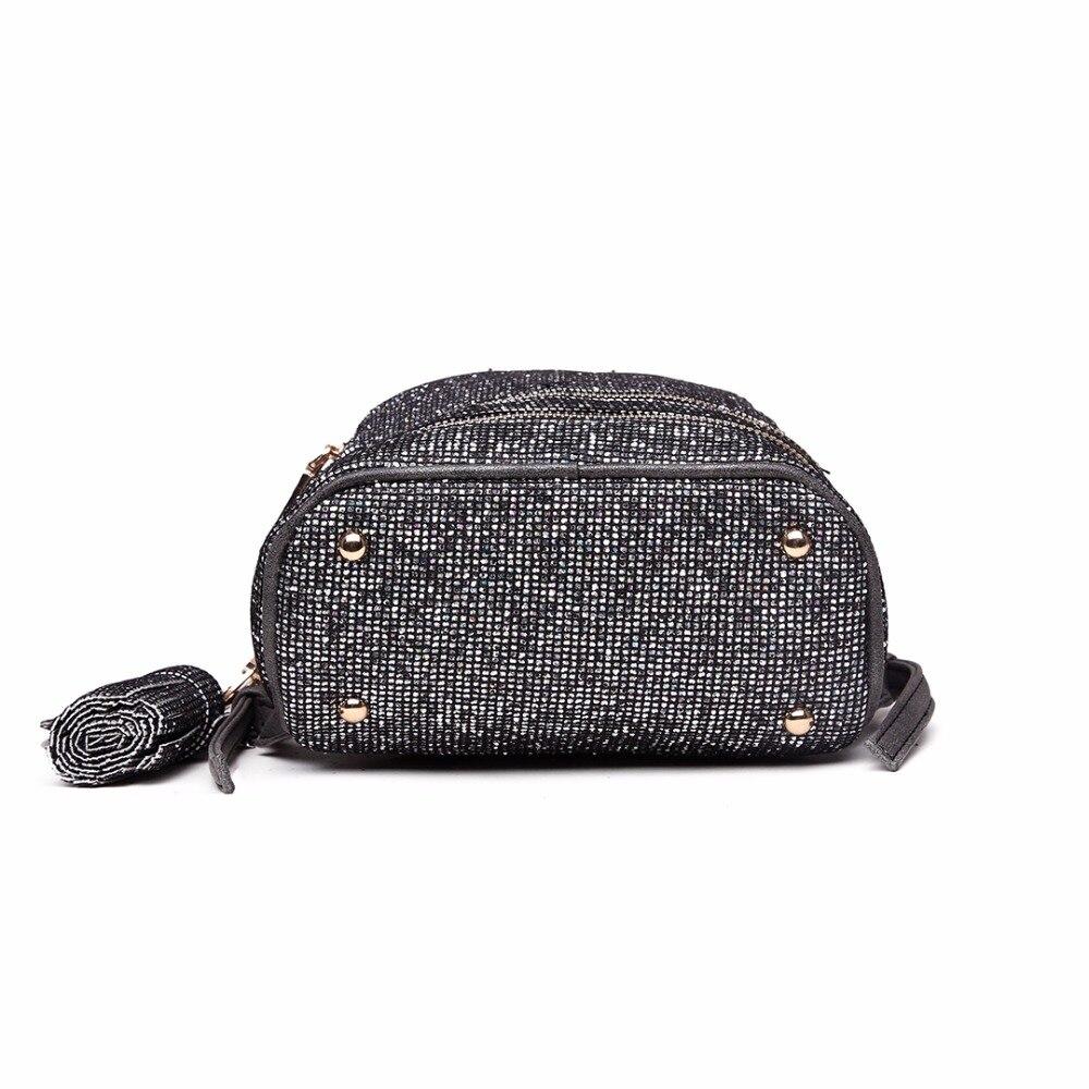 Miss Lulu Women PU Leather Bling Studs Glitter Backpacks Girls Small Mini  Princess Shoulder Rucksack School Bags Daypack LT1763-in Backpacks from  Luggage ... 4d61f5cd0bad