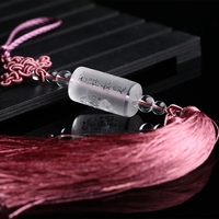 Natural light white crystal ornaments are high grade car rearview mirror lucky evil body Fu Ping