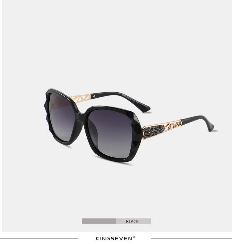 KINGSEVEN Sunglasses Women Gradient Polarized Diamond Frame Sun Glasses For Driving Luxury Lady Shades Eyewear Accessories 7538 4