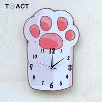 Girl Room Creative Wall Clock Cartoon Cat Claw Clocks Fashion Hanging Watch Children's Bedroom Mute Decoration Watches For Kid