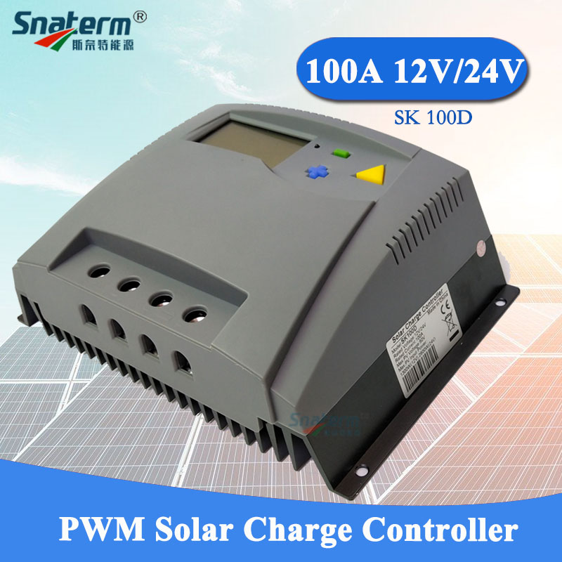 100A 12V 24V Auto work PWM Solar Charge controller LCD Display 100A PV Solar regulator for