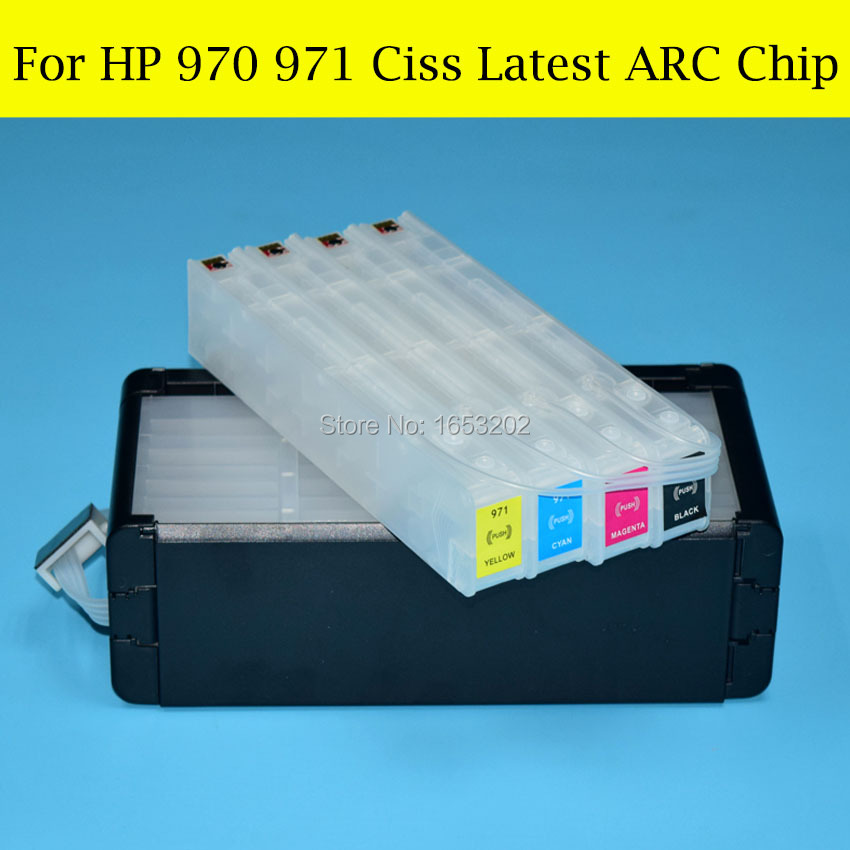 970 BWP1CN1640AR 1 Set HP970 971 Ciss System With ARC Chip For HP - Office Electronics