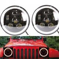 7 inch Headlight led For Lada 4x4 urban Niva for UAZ Hunter Nissan Suzuki Samurai 7 DRL /Amber Turn Light Hi/Lo Beam Fog Light