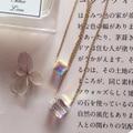 Mujeres colgante y collar 14 k oro elegante de las señoras de regalo Austria importación cuadrado colorido cristal gargantilla cadena fine jewelry accesorios