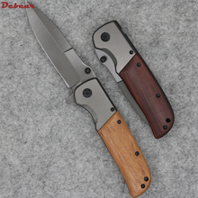 Dcbear New Tactical Folding Knife With 3CR13MOV Blade Titanium Surface Camping Pocket Tools G080#
