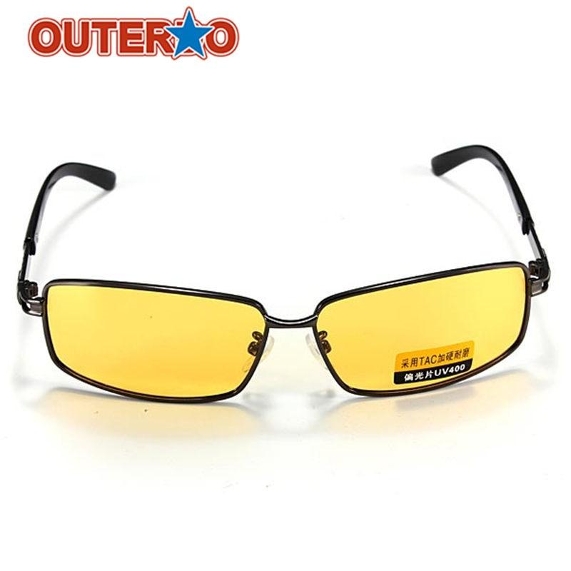 63a0164464f9b Outerdo Len Polarizada UV 400 óculos de Sol Da Bicicleta de Ciclismo  Amarelo Esporte Sombra Óculos Óculos de Visão Noturna