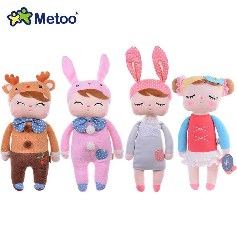 ใหม่มาถึงของแท้ Metoo Angela ตุ๊กตากระต่ายกระต่ายตุ๊กตาของเล่นเด็กน่ารักน่ารักตุ๊กตาของเล่นเด็กหญิงวันเกิด/คริสต์มาสของขวัญ